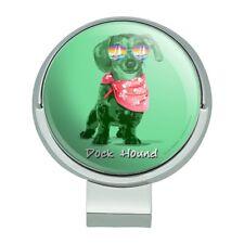 Dock Hound Dachshund Wiener Dog Retro Golf Hat Clip With Magnetic Ball Marker
