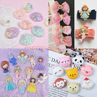 10PCS Kawaii Resin Flatbacks Craft Cardmaking Embellishments Face Gems Phone DIY