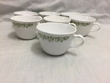CORELLE CORNING SET OF 7 CRAZY DAISY SPRING BLOSSOM MUGS CUPS GREAT COND
