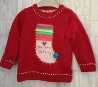 Girls Age 6-9 Months - Mothercare Pretty Christmas Long Sleeved Top