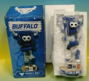 Victor E Bull UNIVERSITY OF BUFFALO Bulls BOBBLE HEAD *RARE SGA UB Broken New