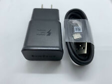 New Original Samsung Galaxy S9 S8plus Note 8 Fast OEM Wall Charger Type-C CABLE