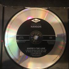 Hanson: Where's the Love US PROMO CD - 1997,  MERCURY Records  RARE!