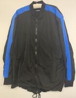 Diesel mens jacket long bomber black blue Size L. only worn once