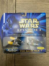 Star Wars Micro Machines Episode 1 Pod Racer Pack 4 66530 Sealed