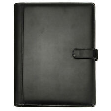 Black A4 Executive Conference Folder Portfolio PU Leather Document Organise N2S3