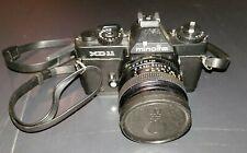 Vintage Minolta XD 11 Camera w/ Minolta MD Celtic 1.28 f28mm Lens