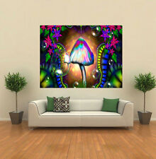 MUSHROOMS PSYCHEDELIC TRIPPY GIANT WALL POSTER ART PRINT P036