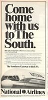 1977 Advertising' Vintage National Airlines Company Aerial Miami USA a112