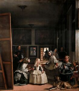 Diego Velázquez - The Ladies-in-Waiting, Las Meninas, Art Poster, Canvas Print