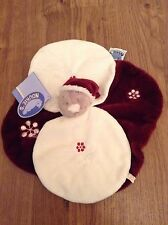 Noukies Nouky Red White Baby Doudou Christmas Comforter Blanket Blankie Plush BN
