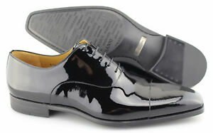 Men's MAGNANNI 'Clint' Black Patent Leather Cap Toe Oxfords Size US 11.5 - D