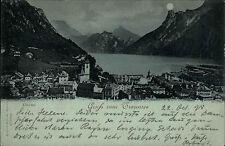 1898 Stempel GMUNDEN Traunsee Panorama See Stadt gelauf. mit A-Stempel FRIEDENAU
