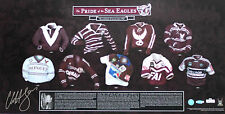 New Pride of Manly Sea Eagles Cliff Lyons Hand Signed Lithograph