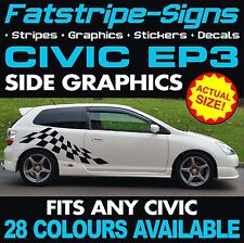 HONDA CIVIC EP3 GRAPHICS STICKERS DECALS STRIPES TYPE R S VTEC 1.6 2.0 JAP MUGEN