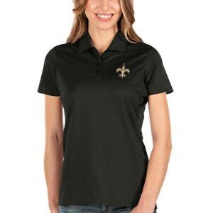NWT Antigua Women's New Orleans Saints Black Polo Size Medium