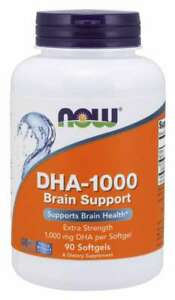 Now Foods DHA-1000 Extra Strength BRAIN SUPPORT- 90 Softgels COGNITIVE FUNCTION