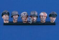 Verlinden 120mm (1/16) German Soldier Heads WWII (6 different heads) 2409