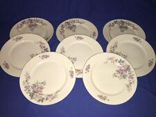 """8 Eschenbach Bavaria Elfenbein Floral Porzellan 9 3/4"""" Dinner Plates"""
