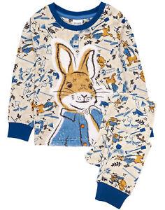 Peter Rabbit Pyjamas Baby Kids Costume Fluffy T-Shirt & Bottoms PJs