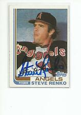 STEVE RENKO Autographed Signed 1982 Topps card California Angels COA