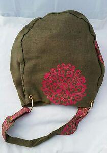 10 X Women's fashion Designer Handbag Shoulder Bag Travel Beach Hessian JUTE Bag