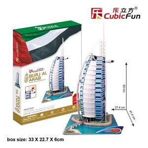 CubicFun 3D Puzzles Burj Al Arab Educational Jigsaw Cardboard Puzzle MC101h
