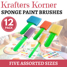 5pk Sponge Brushes Art Craft Assorted Painting Brush Lightweight Tool Set