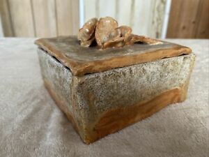 Vintage Studio Pottery Square Lidded Pot Box