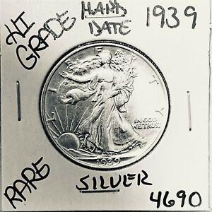 1939 LIBERTY WALKING SILVER HALF DOLLAR HI GRADE U.S. MINT RARE COIN 4690