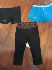 Womens Size Small Medium Under Armour Nike Shorts Capri Yoga Lot