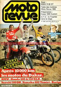 MOTO REVUE 2592 KAWASAKI Ltd 1000 K BMW R80 ST Motos du DAKAR XT XLR DR XR 1983