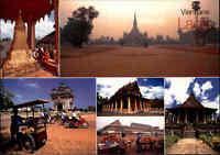 LAOS Asien Postkarte Vientiane Mehrbildkarte Multi-View Postcard, Ansichtskarte