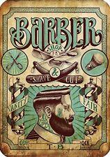 Vintage Hairdresser Tattoos Posters Kraft Paper Interior Barber Shop Decoration