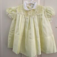 VTG CASTRO & CO DRESS 3-6 mo baby /doll Pin tucks embrodery Exquisive Never worn