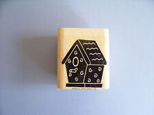STAMPIN' UP RUBBER STAMPS BIRD HOUSE SILHOUETTE STAMP