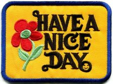 Have a Nice Day 70s hippie retro boho weed love applique iron-on patch new S-304