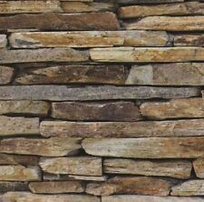 Stacked Stone Look Wallpaper -  Natural Colour - Stacker Stone - 10M - NEW