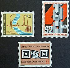 AUTRICHE timbre - Yvert et Tellier n°1413 à 1415 n** stamp Austria (cyn5)