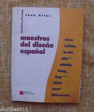 Maestros del diseño español/Juan A./Experimenta/Ediciones de diseño/1996/1ª edi.