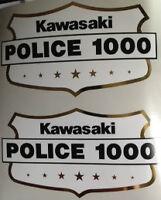 KAWASAKI Z1000 KZ1000 POLICE BIKE CHIPS SIDE PANEL DECALS
