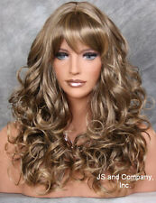 Bouncy Long Wavy Blonde pale brown MIX Wigs JSCA 8T-124