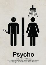 A4 alternativa PSYCHO MOVIE POSTER (Blu-Ray DVD Norman Bates Motel PICTURE ART)