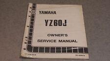 1982 YAMAHA YZ60J  FACTORY OWNERS SERVICE MANUAL LIT-11626-03-19
