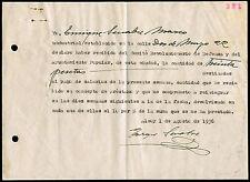 """ALICANTE -1936 ALCOY - RECONOCIMIENTO DE DEUDA """"DECLARO HABER RECIBIDO DEL..."""""""