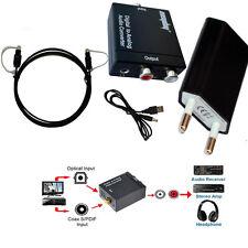 3.5mm Ottico Digitale Coassiale Toslink SPDIF a RCA analogico Convertitore Audio