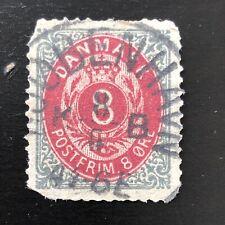 1875 Denmark Royal Emblem 8ore Postfrim
