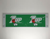 """Vintage 7up The Uncola Metal Panel Sign 23""""x7"""""""
