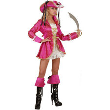 Ladies Sexy Pirate Fancy Dress Costume Deluxe Outfit French Captain NEW