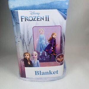 "Frozen II Elsa & Anna Soft Plush Blanket, Kids 62""x90"" Disney"